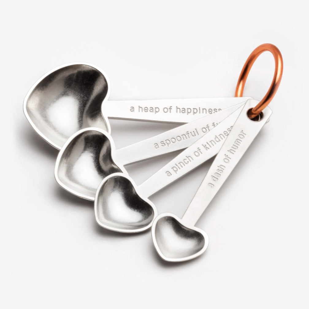 Beehive Handmade: Measuring Spoon Set: Quote/Heart