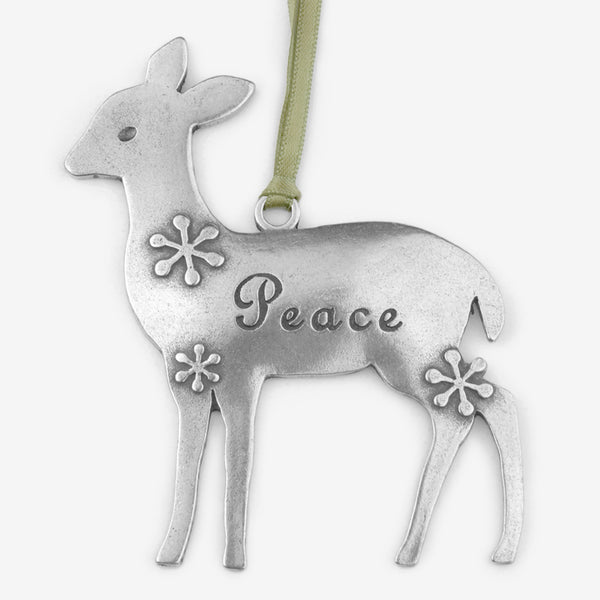 Beehive Handmade: Holiday Ornament: Deer Peace
