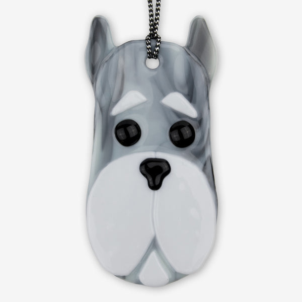 Charlotte Arvelle Glass: I'm A Pup Ornament: Fritz