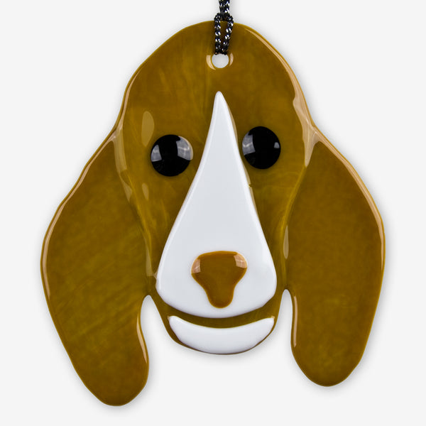 Charlotte Arvelle Glass: I'm A Pup Ornament: Guy
