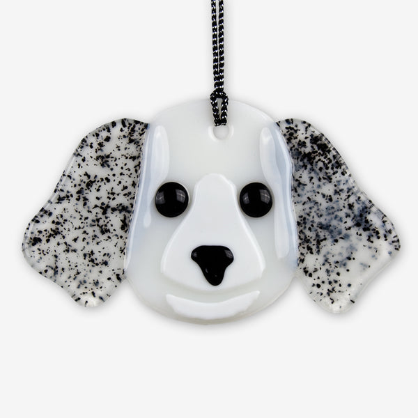 Charlotte Arvelle Glass: I'm A Pup Ornaments: Pepper