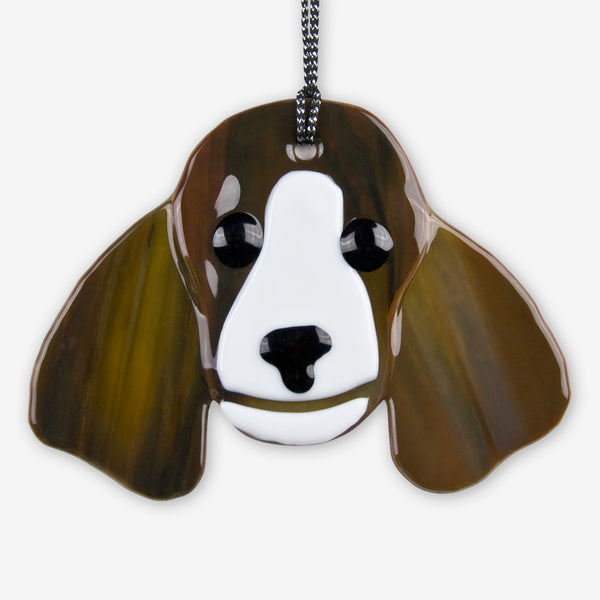 Charlotte Arvelle Glass: I'm A Pup Ornaments: Springer