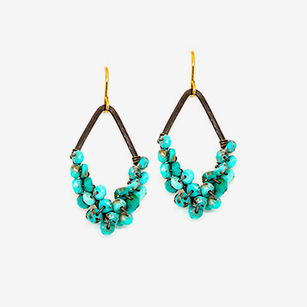 Calliope Jewelry: Earrings: Turquoise Wrap
