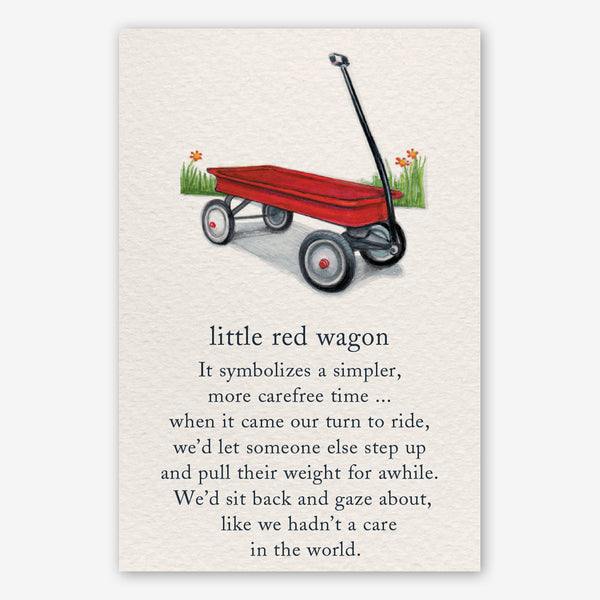 Cardthartic Encouragement Card: Little Red Wagon