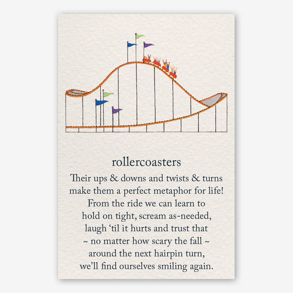 Cardthartic Encouragement Card: Roller Coasters
