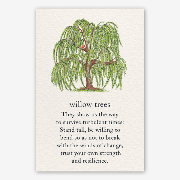 Cardthartic Encouragement Card: Willow Trees