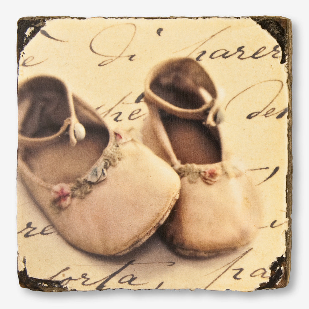 Cedar Mountain Studios: Lost + Found Art Block: Baby Shoes