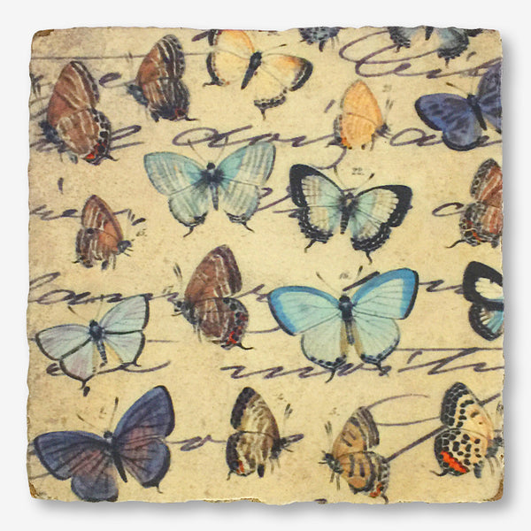 Cedar Mountain Studios: Lost + Found Art Block: Garden Butterflies
