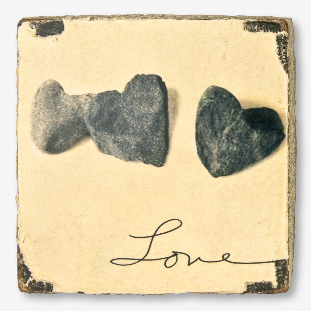 Cedar Mountain Studios: Lost + Found Art Block: Love Stones