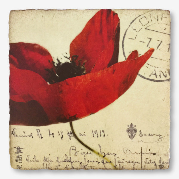 Cedar Mountain Studios: Lost + Found Art Block: Open Poppy
