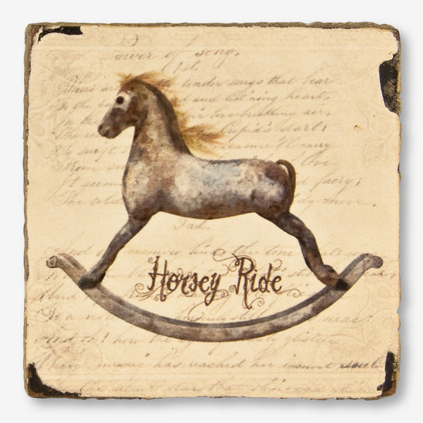 Cedar Mountain Studios: Lost + Found Art Block: Rocking Horse