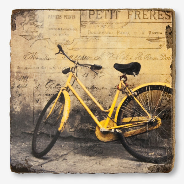 Cedar Mountain Studios: Lost + Found Art Block: Yellow Bicycle