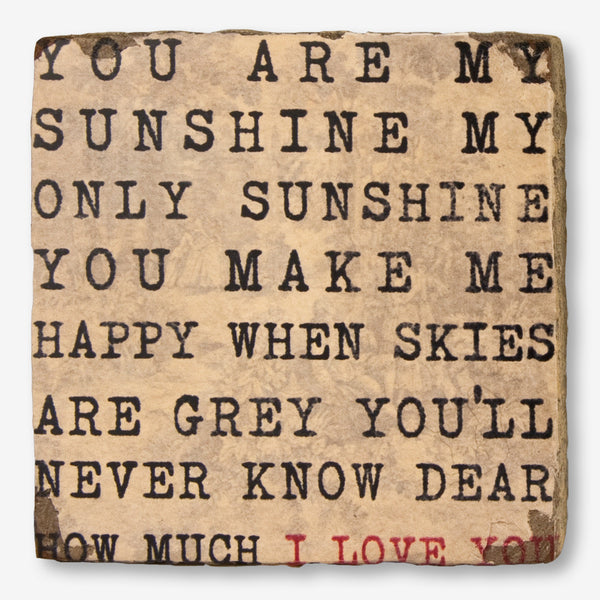 Cedar Mountain Studios: Lost + Found Art Block: You Are My Sunshine
