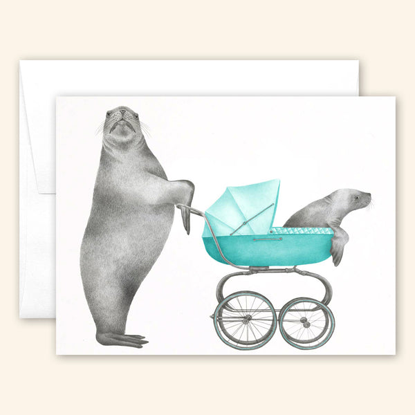 Central & Gus: Greeting Card: Easton & Mino Scarborough