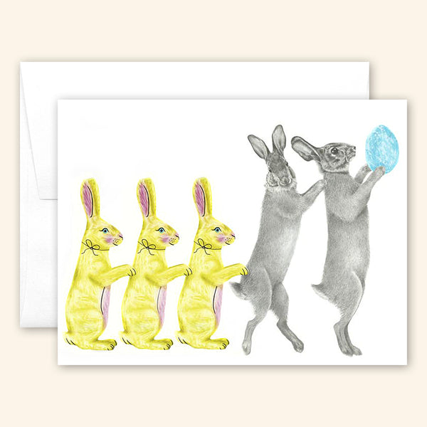 Central & Gus: Greeting Card: Bailey & Sapphin Cottontail Rabbit