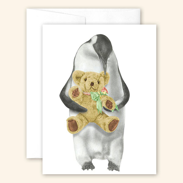 Central & Gus: Greeting Card: Puck Louy Emperor Penguin