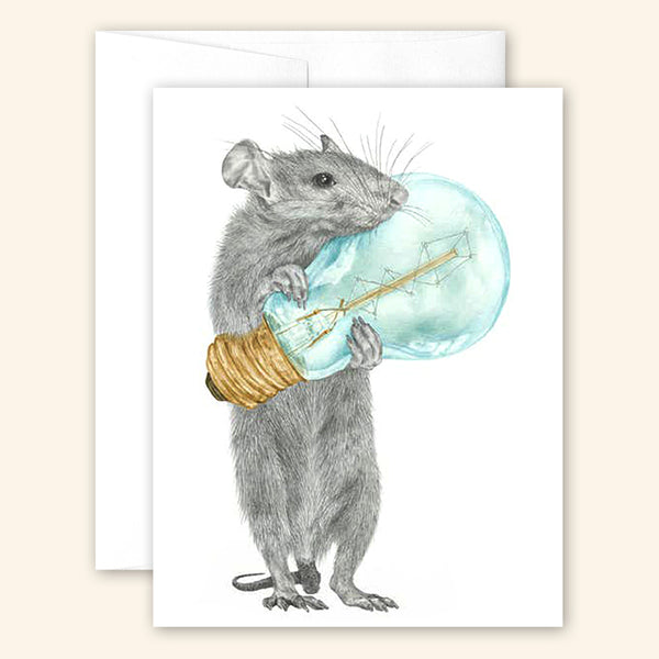 Central & Gus: Greeting Card: Griffith SucreCoeur Rat