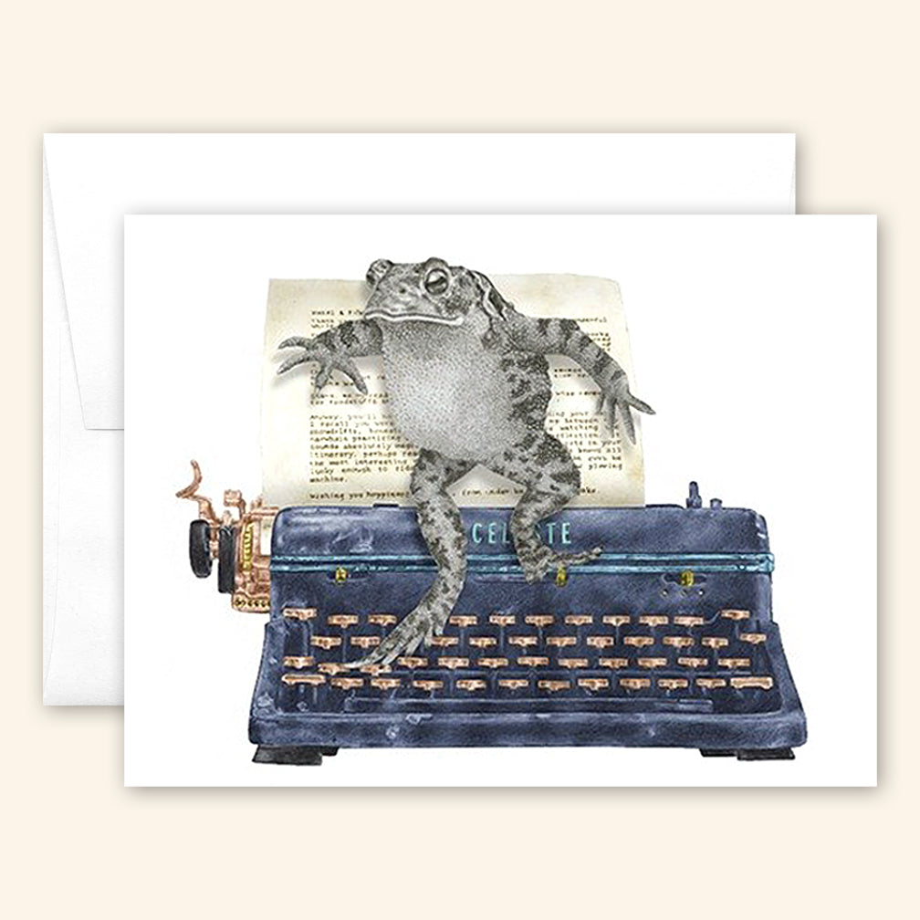 Central & Gus: Greeting Card: Stuart Bleuet American Toad