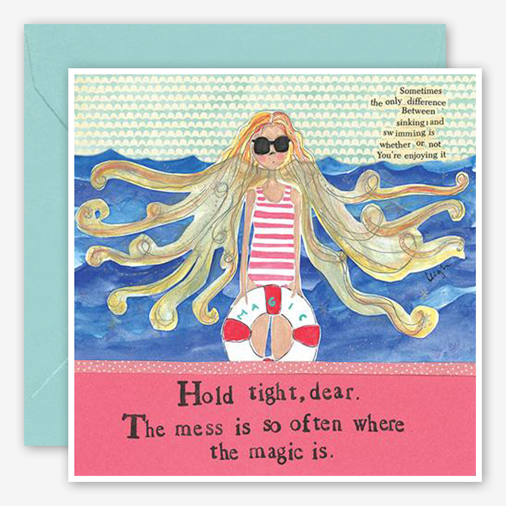 Curly Girl Design: Encouragement Card: Mess