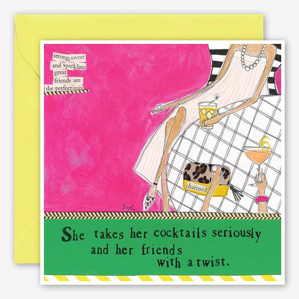 Curly Girl Design: Friendship Card: Cocktails