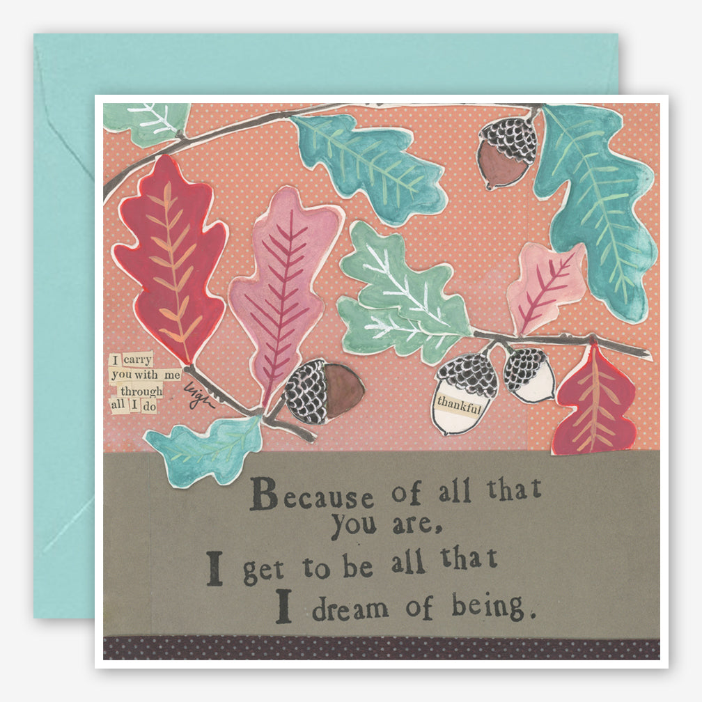 Curly Girl Design: Friendship Card: Because Of You