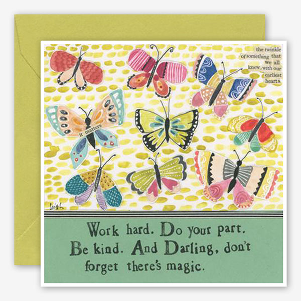 Curly Girl Design: Encouragement Card: Don't Forget Magic