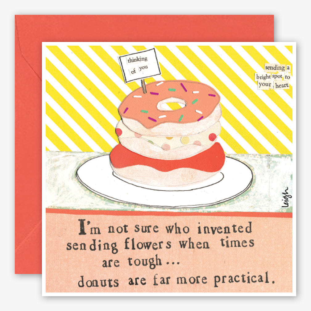 Curly Girl Design: Encouragement Card: Donuts