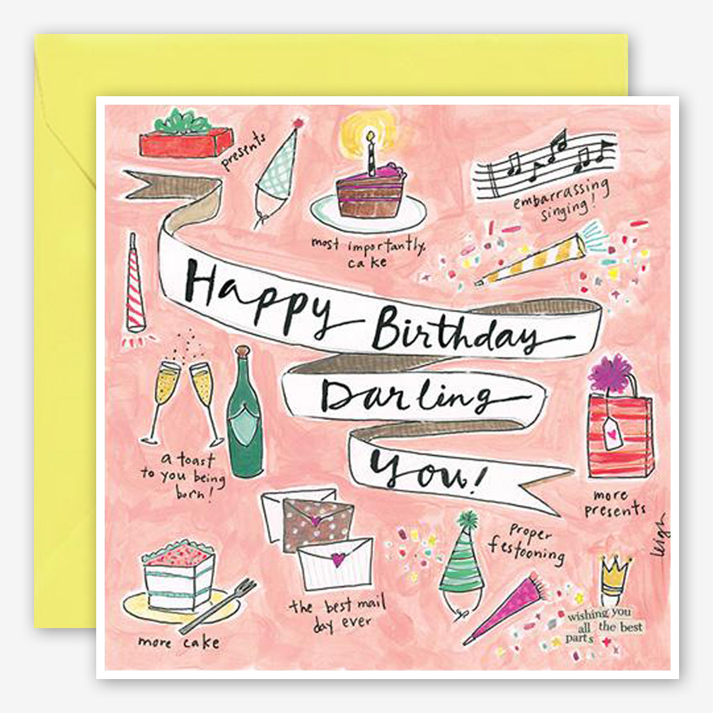Curly Girl Design: Birthday Card: Darling You