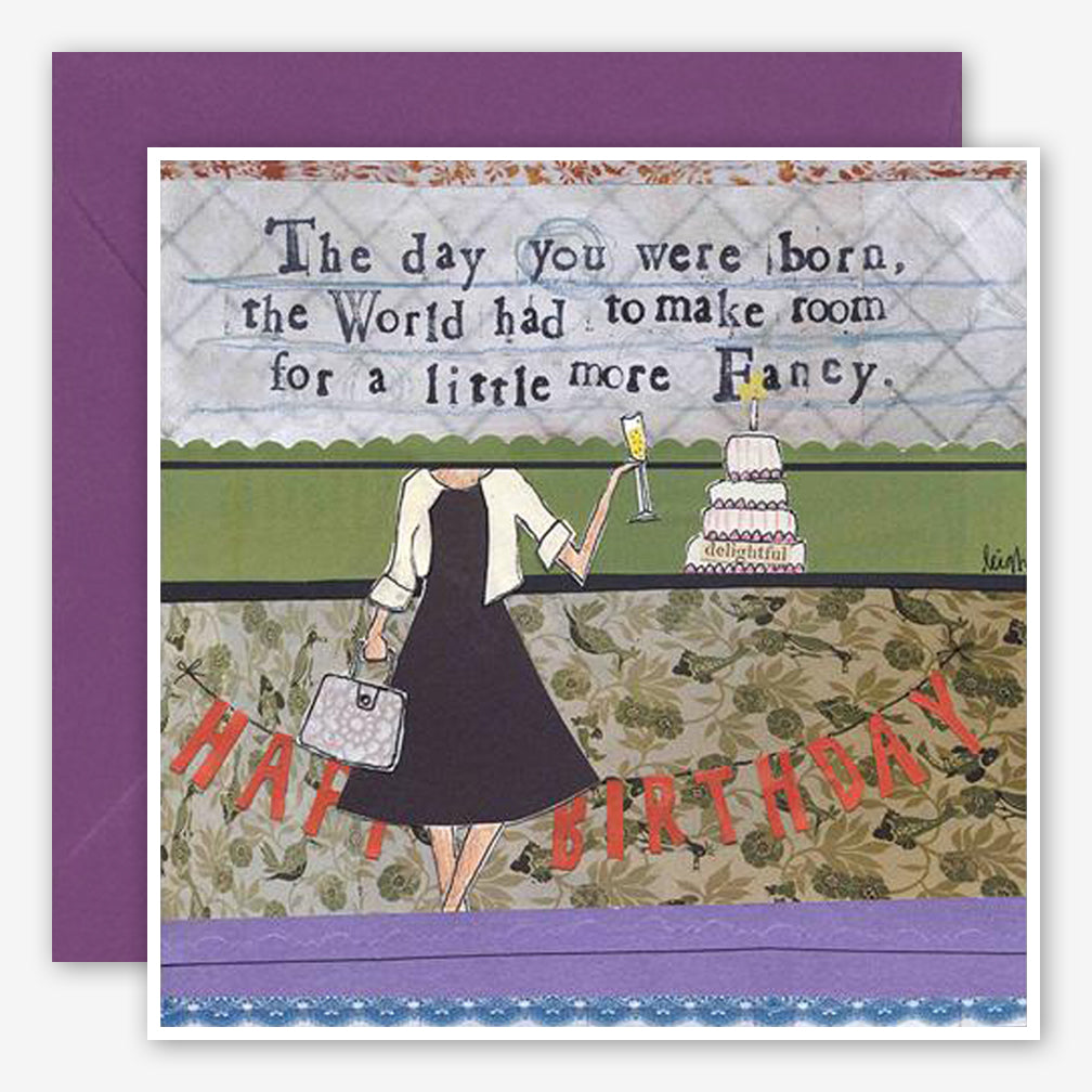 Curly Girl Design: Birthday Card: Fancy