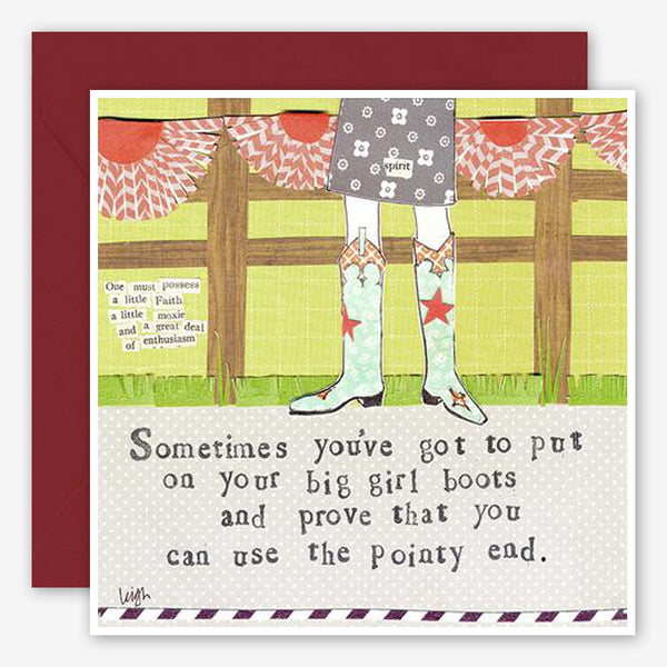 Curly Girl Design: Encouragement Card: Big Girl Boots