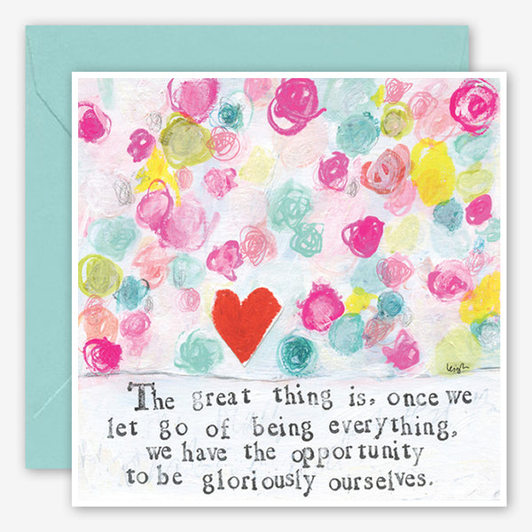 Curly Girl Design: Encouragement Card: Gloriously Ourselves