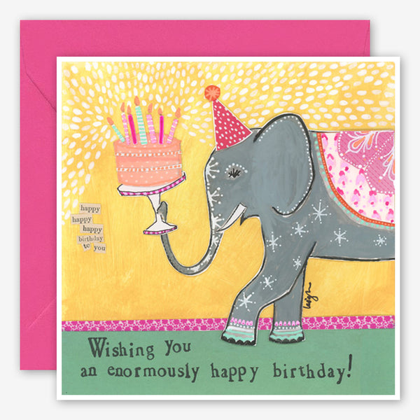 Curly Girl Design: Birthday Card: Enormous Birthday