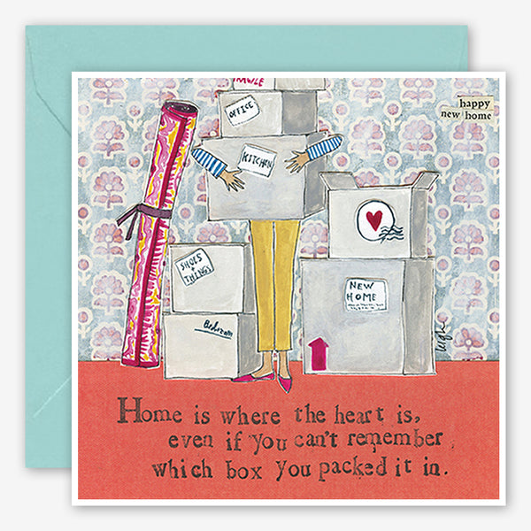 Curly Girl Design: New Home Card: Home is Where