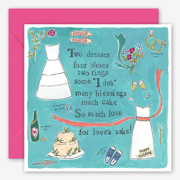Curly Girl Design: Wedding Card: Two Dresses