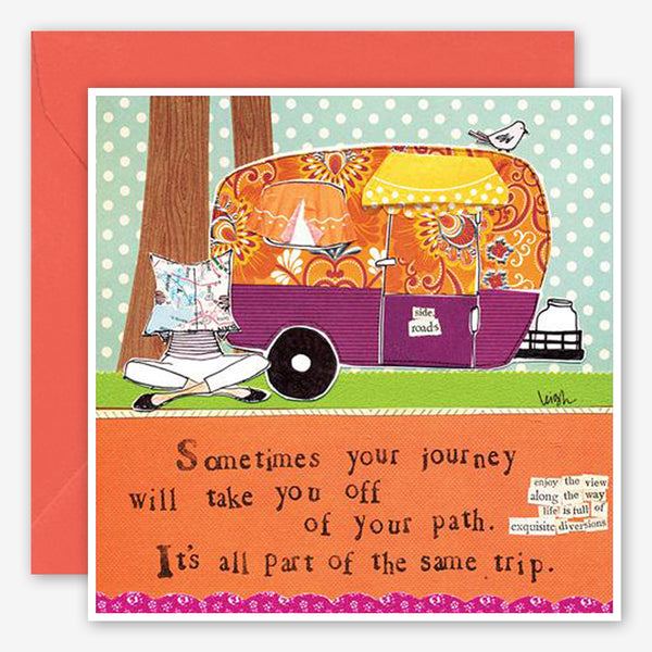 Curly Girl Design: Encouragement Card: Off Your Path