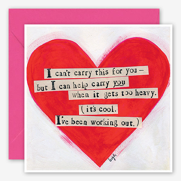 Curly Girl Design: Encouragement Card: Carry You