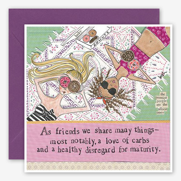 Curly Girl Design: Friendship Card: Love Of Carbs