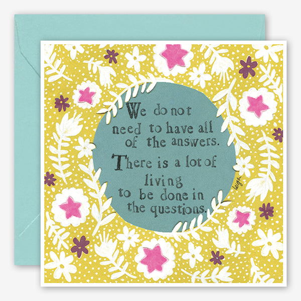 Curly Girl Design: Encouragement Card: Living the Questions