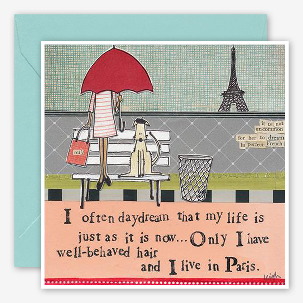 Curly Girl Design: Friendship Card: Live In Paris