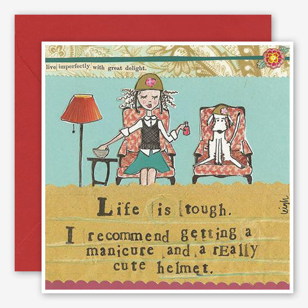 Curly Girl Design: Encouragement Card: Life Is Tough