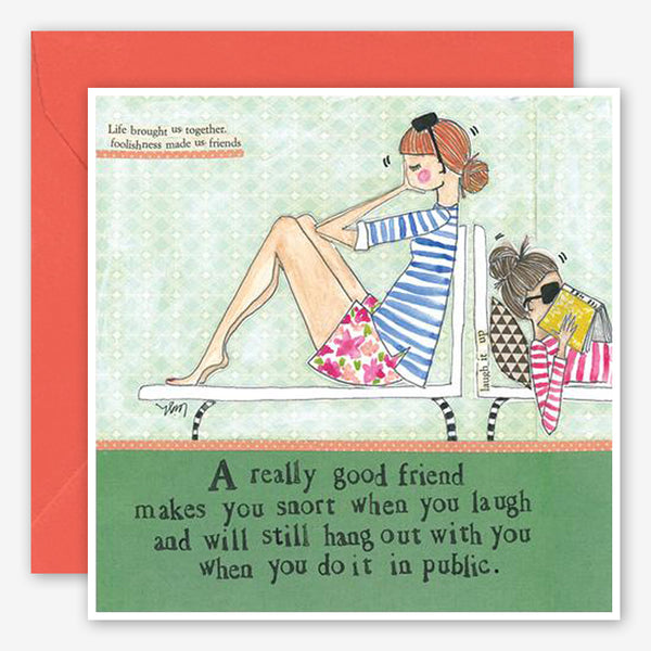 Curly Girl Design: Friendship Card: Snort In Public