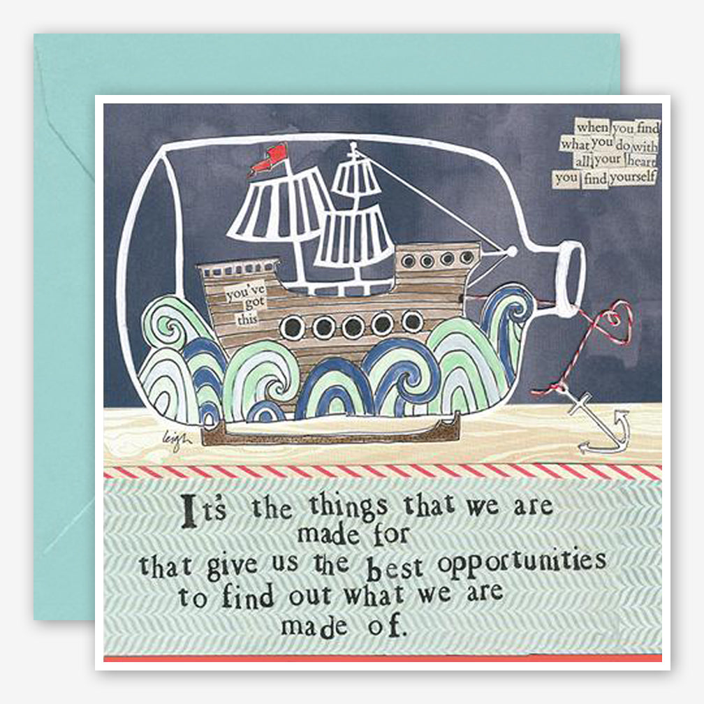 Curly Girl Design: Encouragement Card: Made Of
