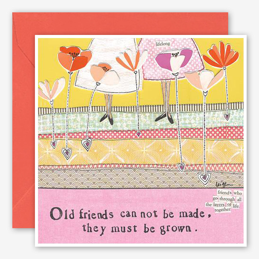Curly Girl Design: Friendship Card: Old Friends
