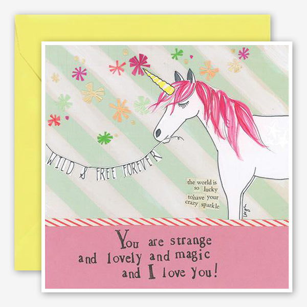 Curly Girl Design: Friendship Card: Unicorn