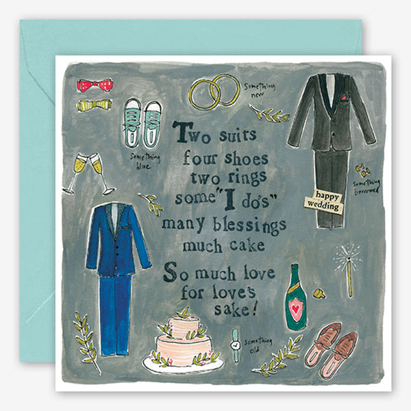 Curly Girl Design: Wedding Card: Two Suits