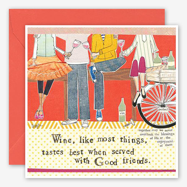 Curly Girl Design: Friendship Card: Wine With Friends