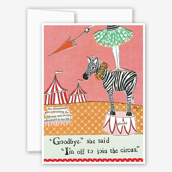 Curly Girl Design: Encouragement Card: Circus Adventure