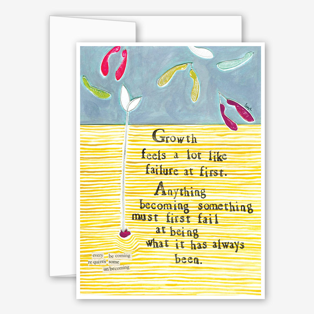 Curly Girl Design: Encouragement Card: Growth