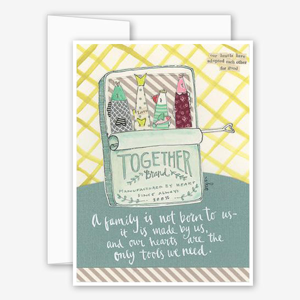 Curly Girl Design: Friendship Card: A Family Is Made By Us