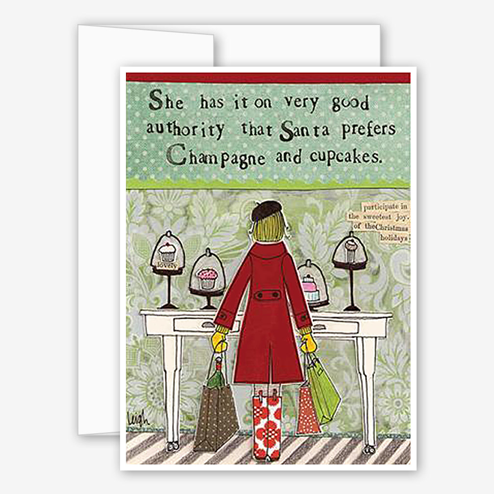 Curly Girl Design: Holiday Card: Champagne & Cupcakes